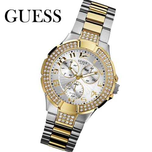 guess damenuhr multifunktion w16563l1 prism bicolor armband uhr uhren markenuhr ebay. Black Bedroom Furniture Sets. Home Design Ideas
