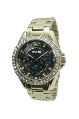 fossil damenuhr multifunktion es3384 riley gold armband. Black Bedroom Furniture Sets. Home Design Ideas
