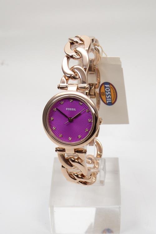 fossil uhr uhren damenuhr es3574 rosegold olive pink dial. Black Bedroom Furniture Sets. Home Design Ideas
