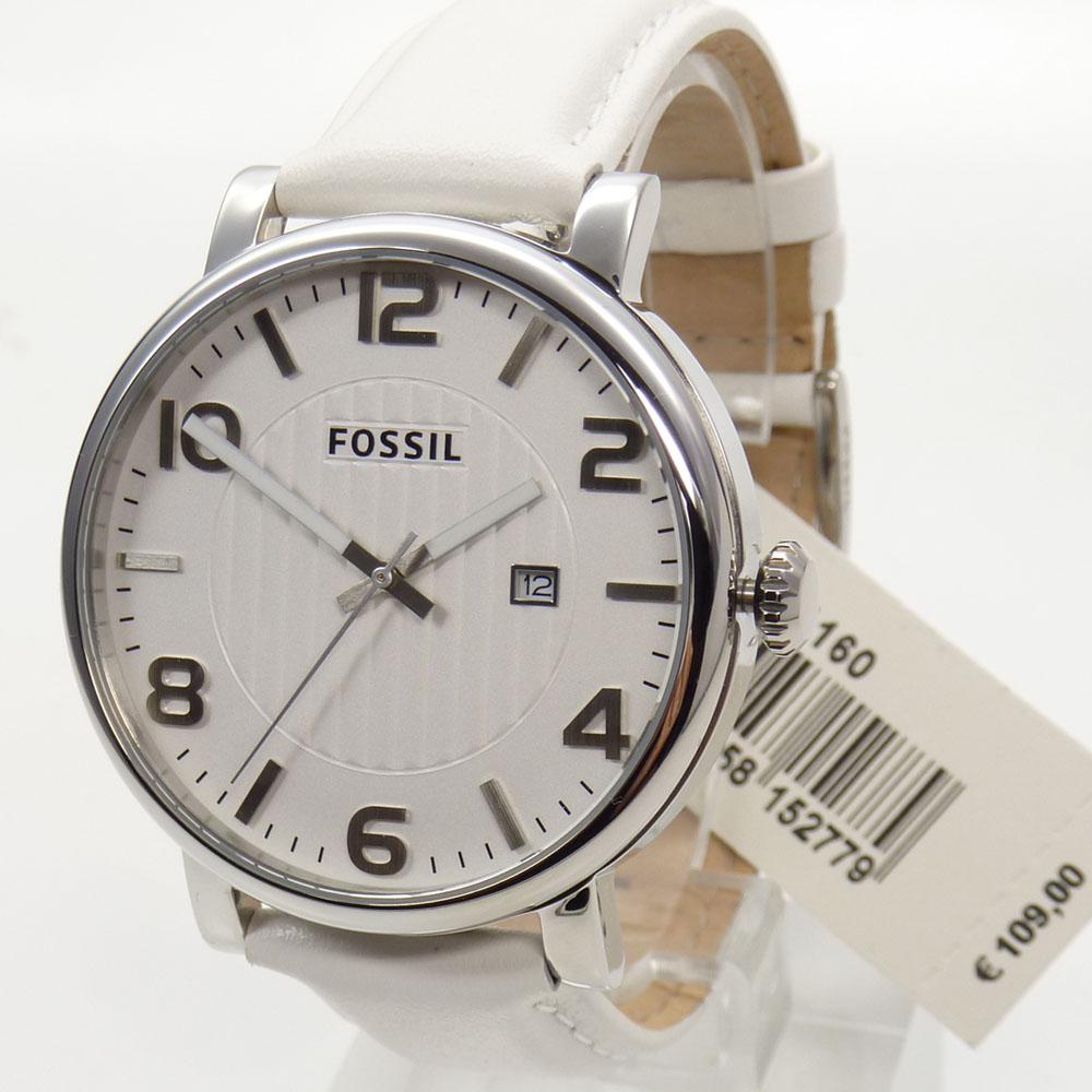 Fossil Uhr Uhren Herrenuhr BQ1160 Datum Leder Edelstahl