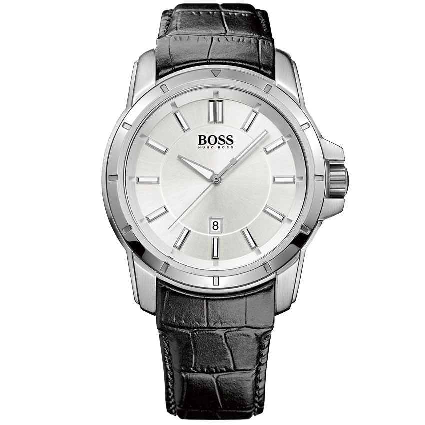 hugo boss black uhr uhren herrenuhr 1512923 datum armband. Black Bedroom Furniture Sets. Home Design Ideas