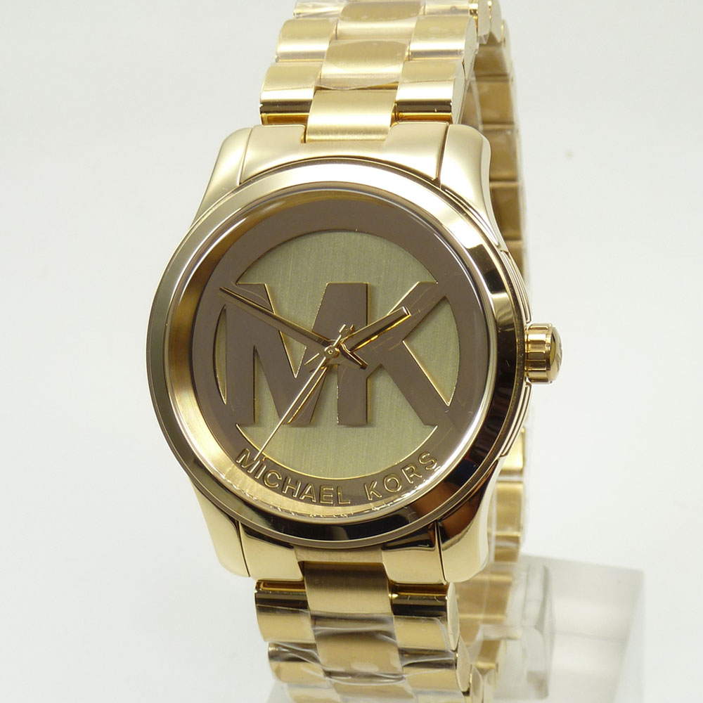 michael kors uhr uhren damenuhr mk5786 runway gold armband armbanduhr neu mk ebay. Black Bedroom Furniture Sets. Home Design Ideas