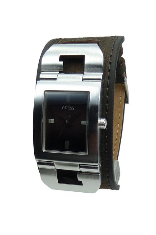 Moderne armbanduhr  Moderne Guess Herrenuhr statt 149 EUR W0066G2 Cuffed Leder ...