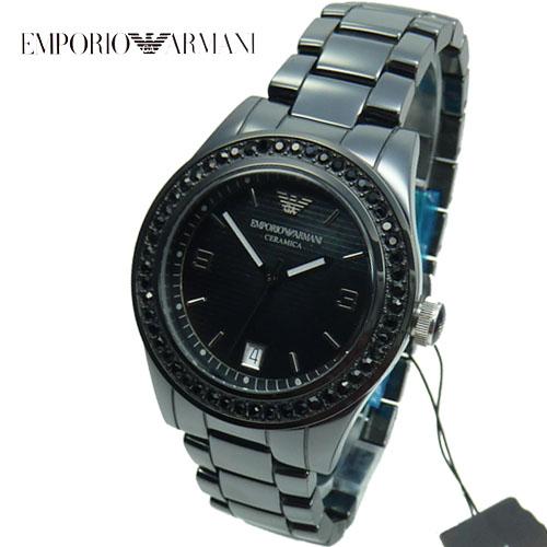 Armani damenuhren schwarz  Emporio Armani Keramik Damenuhr statt 499 EUR AR1423 Ceramica ...
