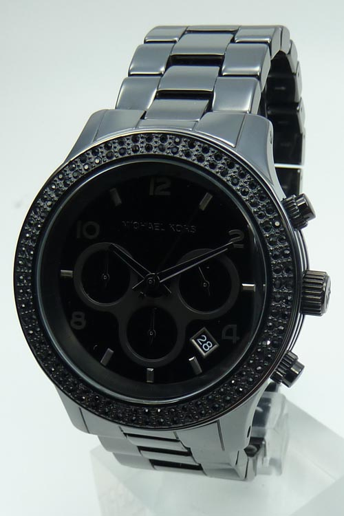 Damenuhren schwarz keramik  Michael Kors Keramik Uhr Uhren Damenuhr UVP 399EUR Chronograph ...
