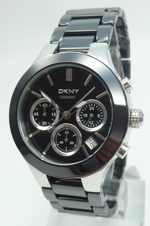 Damenuhren schwarz keramik  DKNY Keramik Damenuhr Chrono statt 245 EUR NY4914 Ceramic ...