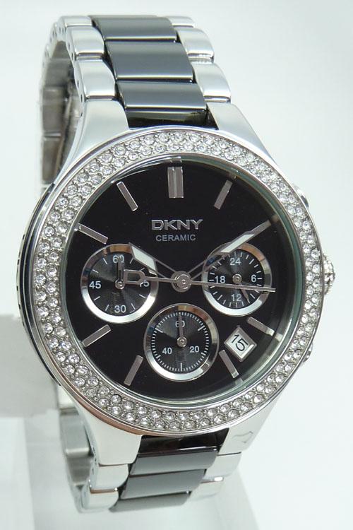 Damenuhren schwarz keramik  DKNY Keramik Damenuhr Chronograph UVP: 275 EUR NY8180 Ceramic ...