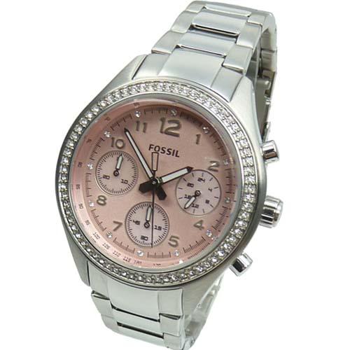 fossil damenuhr chronograph ch2798 uvp 139 eur strass armbanduhr uhr uhren watch ebay. Black Bedroom Furniture Sets. Home Design Ideas