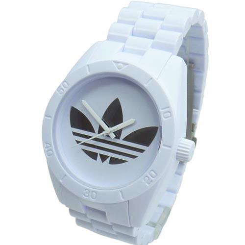 d0eb73330bb0 Adidas Reloj Hombre Unisex Plástico ADH 2797 Santiago blanco pulsera · relojes  relojes de pulsera