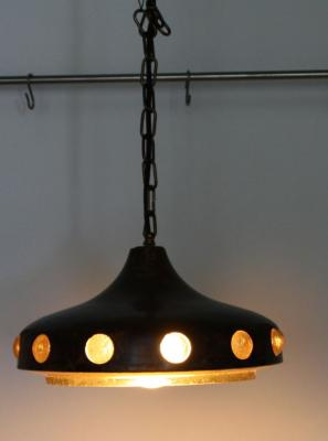 Designer ufo lampe panton eames pop art kupfer glas for Eames lampe