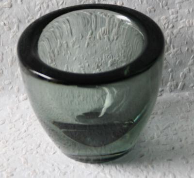 A-D-Copier-Leerdam-Niederlande-Glas-Schale-Vase-signiert-Monogramm-C-L