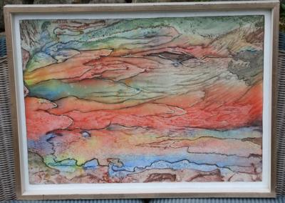 moderne Kunst 70er Künstler Gutzeit Rendsburg Aquarell ...