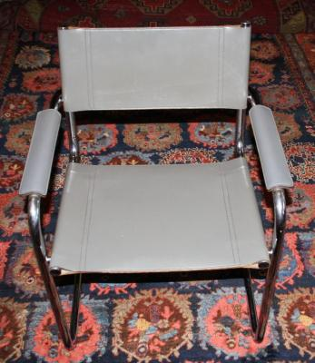 stahlrohr sessel mart stam ledersitz freischwinger schreibtischstuhl thonet ebay. Black Bedroom Furniture Sets. Home Design Ideas