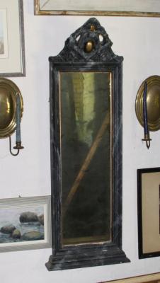 spiegel antikes spiegelglas shabby19 jahrhundert gerahmt gefasst louis philippe ebay. Black Bedroom Furniture Sets. Home Design Ideas