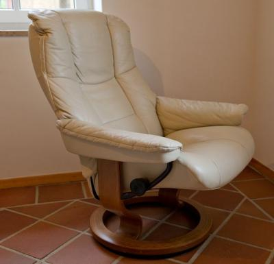 stressless sessel leder beige runder holzfu original ekornes super verarbeitet ebay. Black Bedroom Furniture Sets. Home Design Ideas