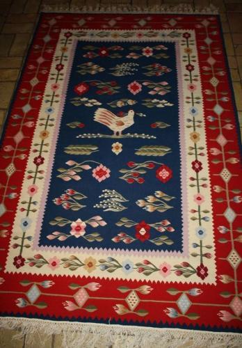 Blumen-Teppich-Carpet-Kelim-Kilim-130x215-Mitte-Rumanien-Tapestry-Tapisserie-60
