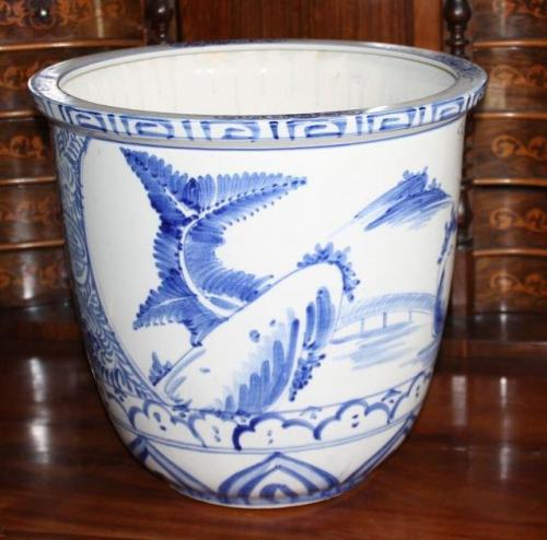 grand cache pot pot de fleurs handbemhalt asiatique porcelaine ebay. Black Bedroom Furniture Sets. Home Design Ideas