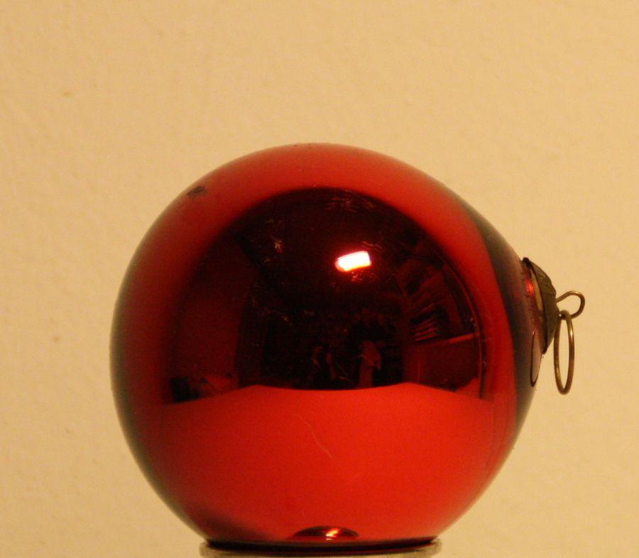 antik rote biedermeier weihnachtskugeln tannenbaumschmuck kugel 25 8 umfang ebay. Black Bedroom Furniture Sets. Home Design Ideas