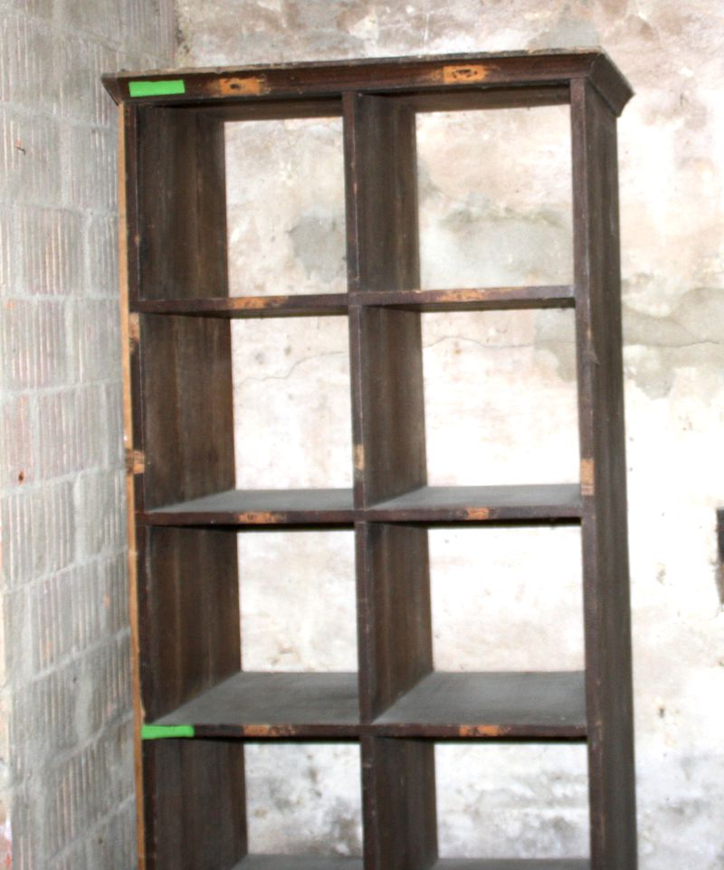 bauhaus akten ablage regal f cher holz loft industrie design sammlerschrank ebay. Black Bedroom Furniture Sets. Home Design Ideas