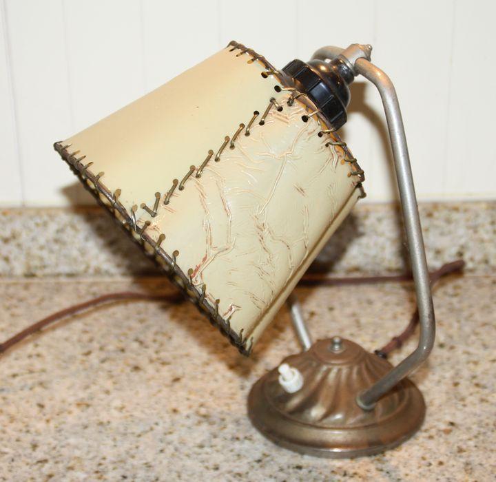 tischlampe wandlampe lampe original 30er jahre vintage retro bakelit schirm ebay. Black Bedroom Furniture Sets. Home Design Ideas