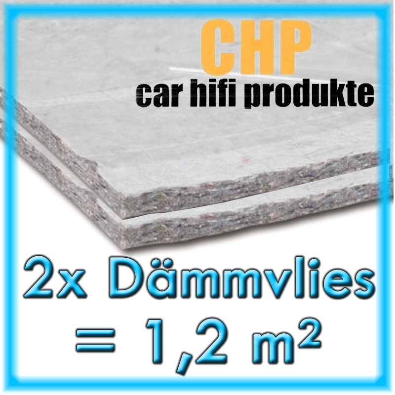 2x Dämmvlies 1,2m² selbstklebend CHP 10mm KFZ
