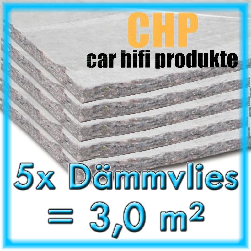 5x CHP Dämmvlies selbstklebend 5 Matten PKW Schalldämmung