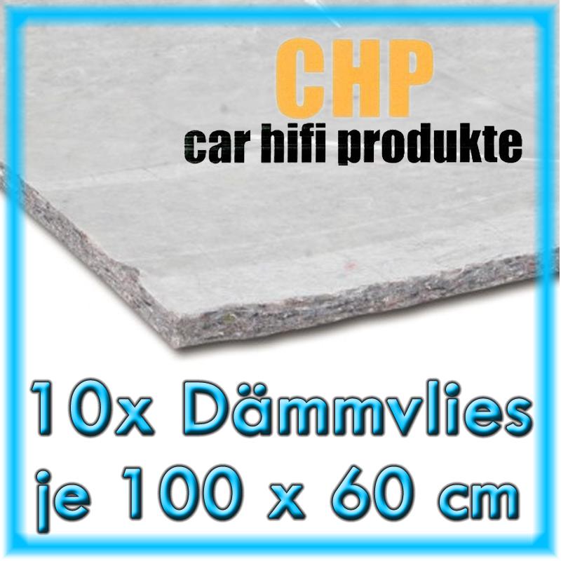 10x CHP Dämmvlies selbstklebend 10 Matten PKW