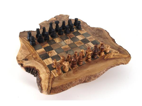schachbrett schachspiel schach aus olivenholz holz mit. Black Bedroom Furniture Sets. Home Design Ideas