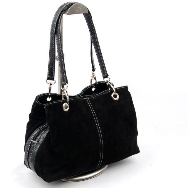 Made in Italy Wildleder Handtasche Damentasche Tasche LTA049 viele Farben NEU
