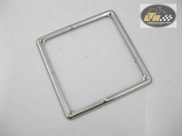 Decorative frame number plate licence plate chrome e 09 standard 185x185mm ebay - Decorative chrome plating ...