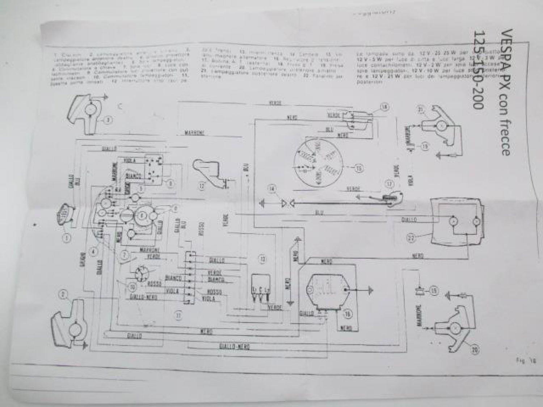 Kabelbaum Mit Blinker Ohne Batterie Vespa Px125 Px150 Px200 Alt Ebay Vba Wiring Diagram