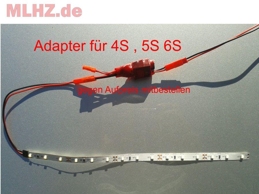 quadrocopter led beleuchtung mit blinkmodul 4x20cm in wunschfarbe mit becstecker ebay. Black Bedroom Furniture Sets. Home Design Ideas