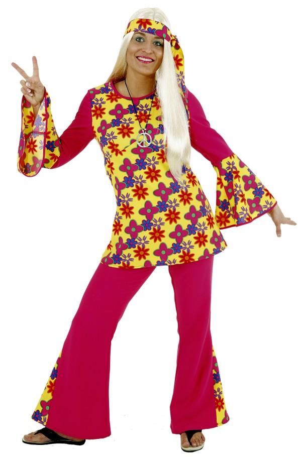 damen hippie flower power kost m hippiekost m 70er jahre outfit damenkost m ebay. Black Bedroom Furniture Sets. Home Design Ideas