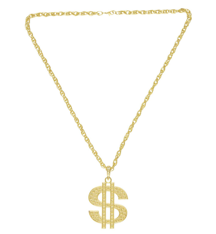 Goldkette gangster damen  Dollar Kette Dollarkette Zuhälter Pimp Halskette Prollkette ...
