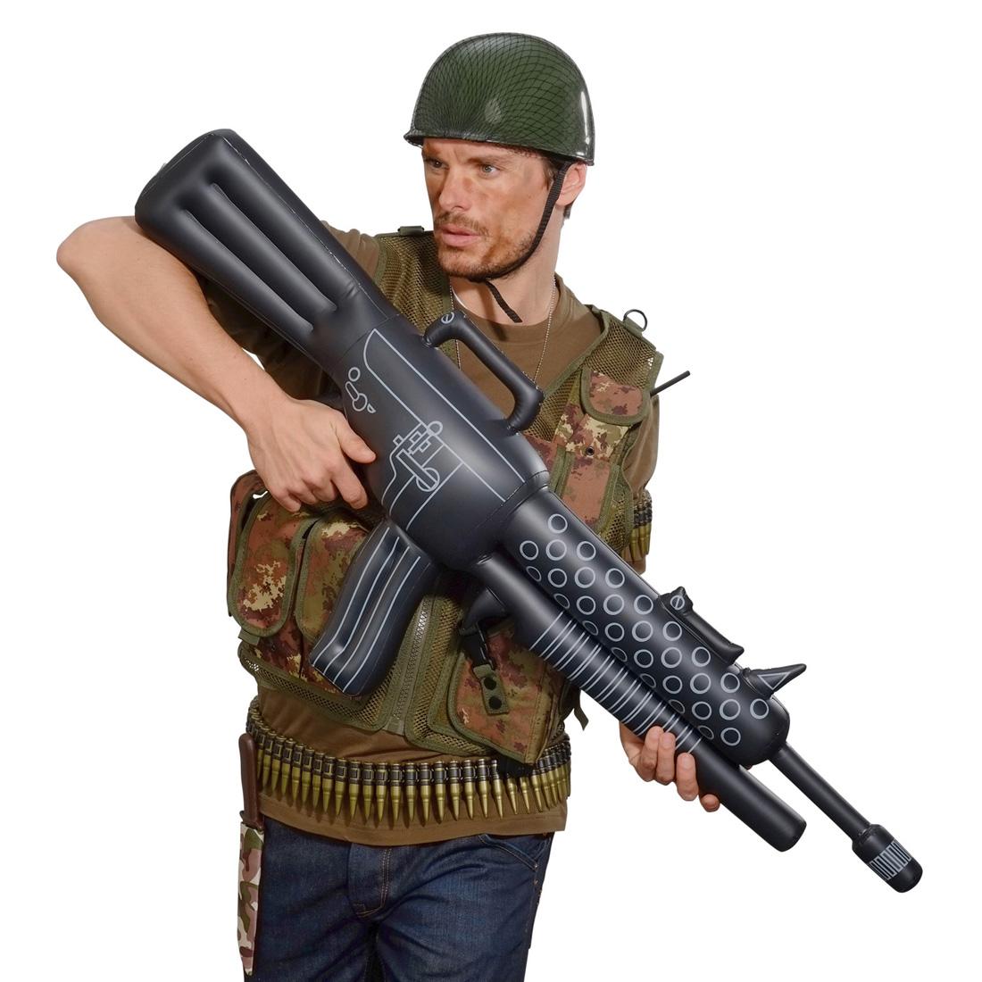 aufblasbares maschinengewehr gewehr aufblasbar waffe. Black Bedroom Furniture Sets. Home Design Ideas