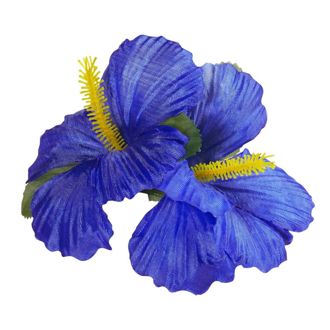 hawaii haarbl te hibiskus haarspange blau ansteckblume. Black Bedroom Furniture Sets. Home Design Ideas