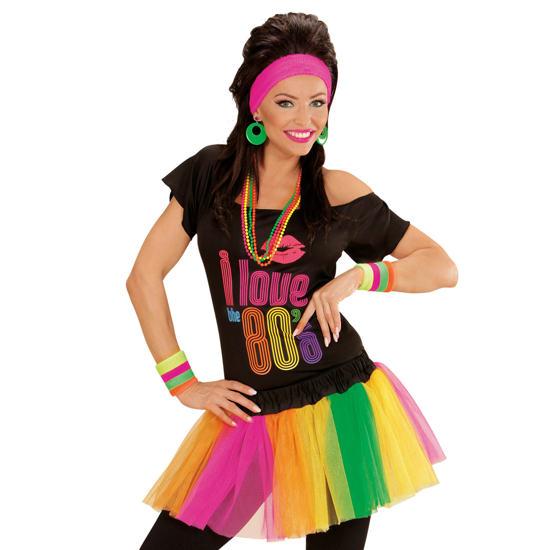 neon tutu damenrock petticoat mini rock 80er jahre mode r schen minirock kost m ebay. Black Bedroom Furniture Sets. Home Design Ideas