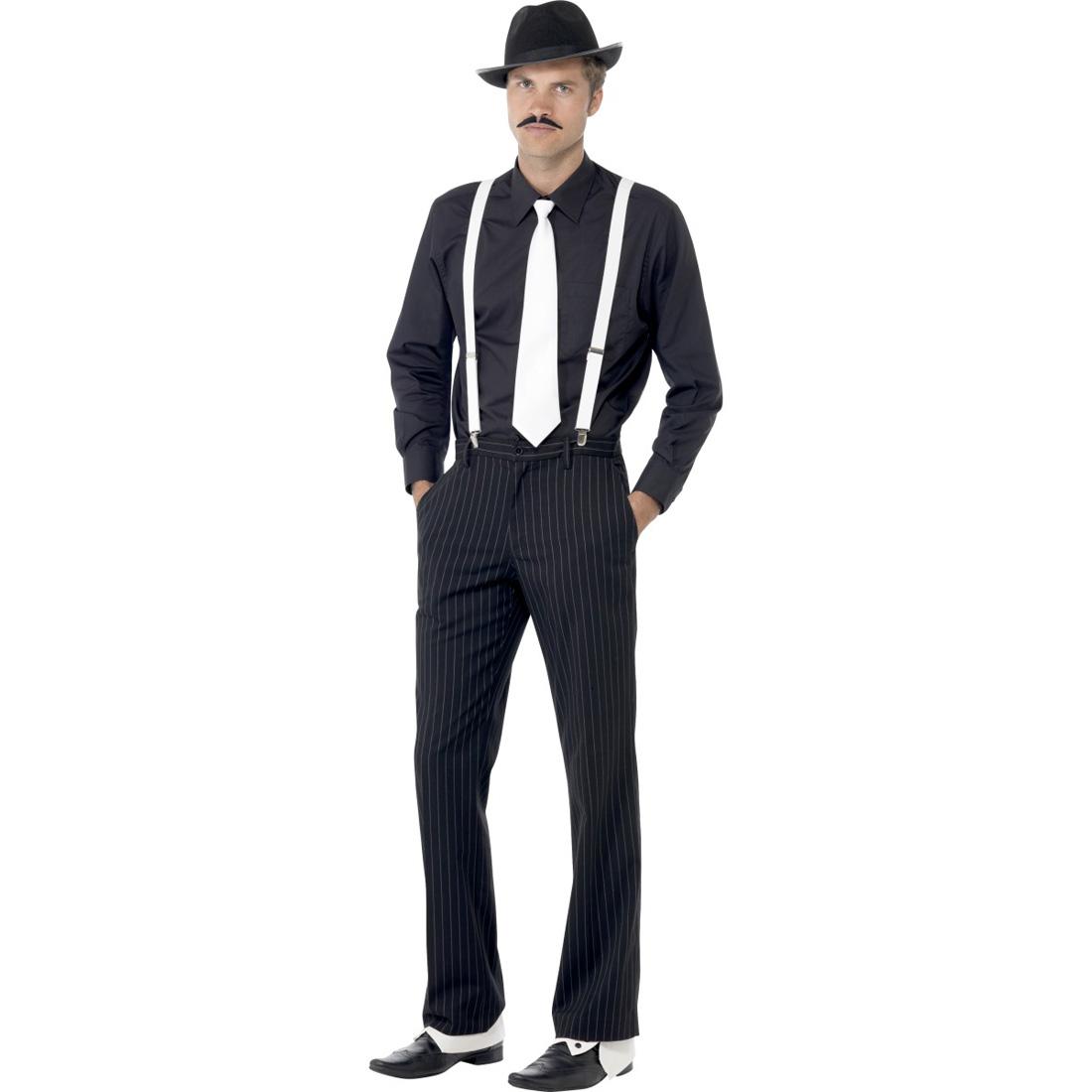 20er jahre mafia kost m zubeh r al capone set outfit gangster karneval kost mset. Black Bedroom Furniture Sets. Home Design Ideas
