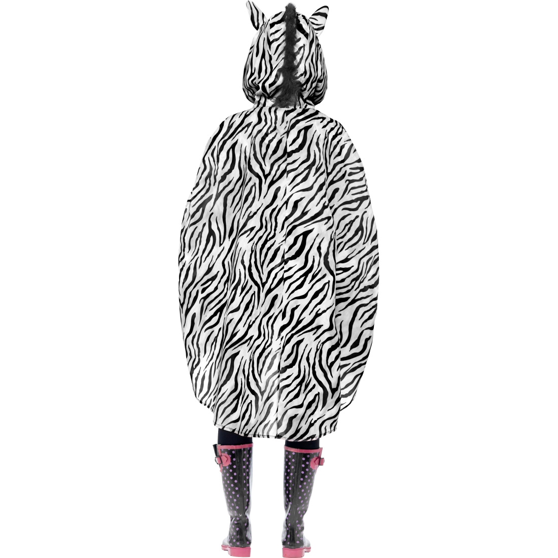 zebra party poncho partyponcho regenponcho cape regencape. Black Bedroom Furniture Sets. Home Design Ideas