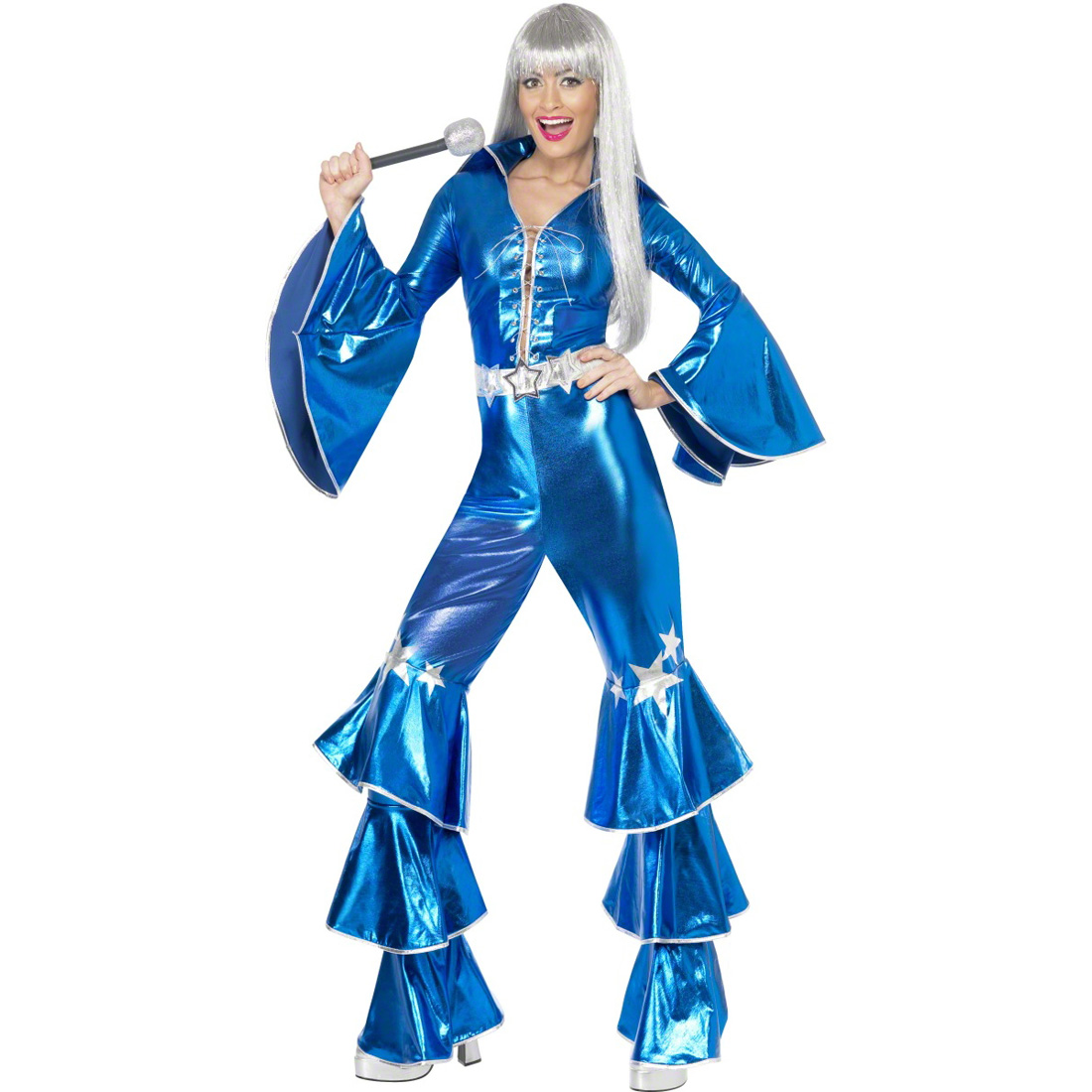kost m damen 70er jahre outfit blau tanz overall schlager damenkost m tanzkost m ebay. Black Bedroom Furniture Sets. Home Design Ideas