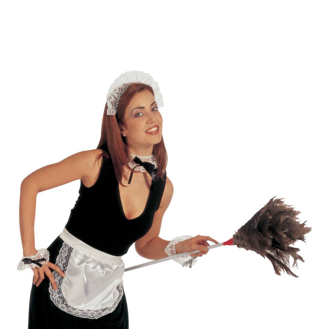 Sexy Frauen im Dienstmädchen Outfit