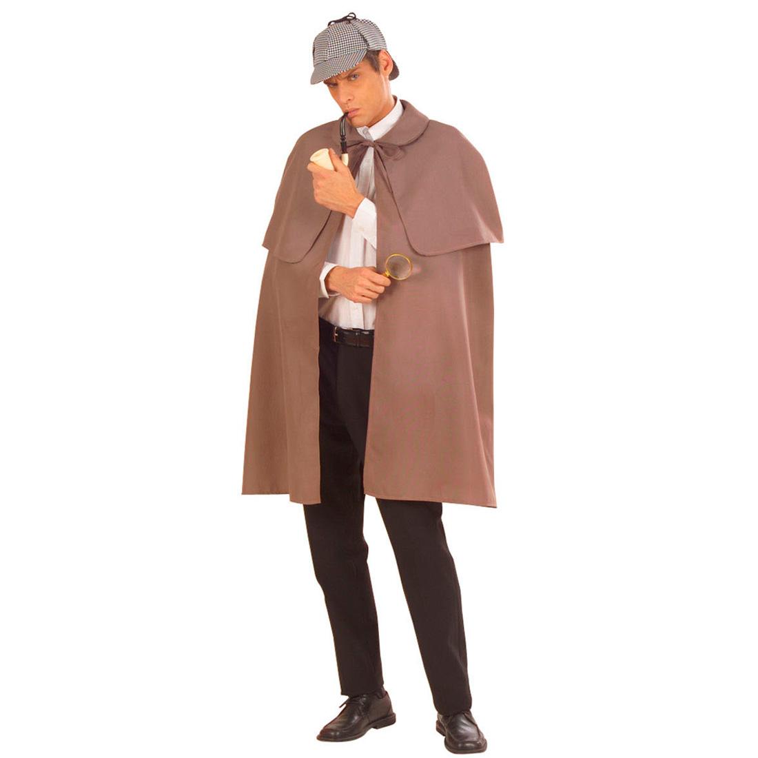 sherlock holmes detektiv mantel agenten kost m umhang grau. Black Bedroom Furniture Sets. Home Design Ideas