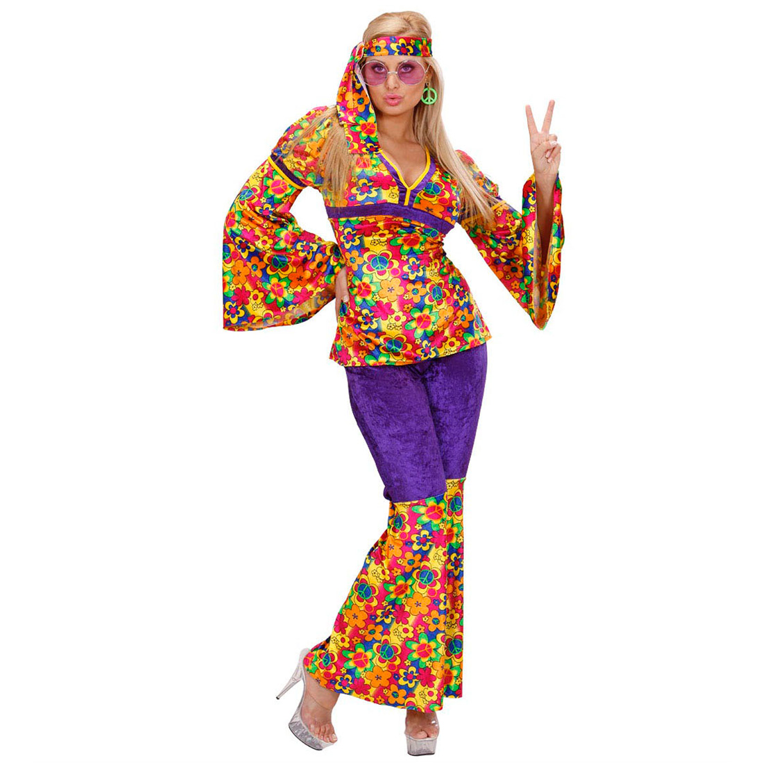 70er jahre hippie damen kost m flower power mode hippiekost m woodstock outfit ebay. Black Bedroom Furniture Sets. Home Design Ideas