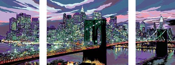 skyline von new york  malen nach zahlen amerika