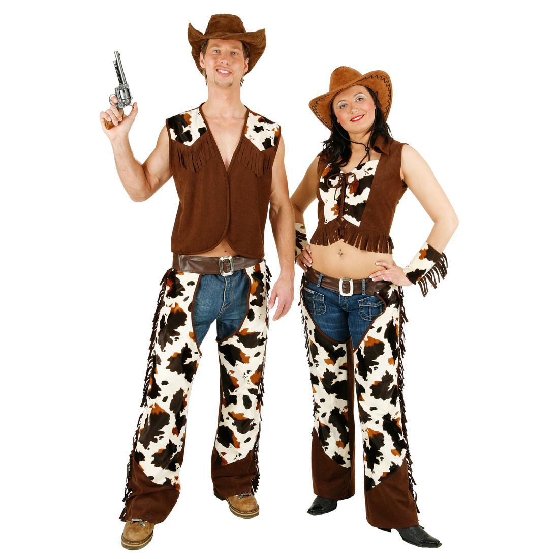 cowboy kost m herren chaps mit weste western cowboykost m. Black Bedroom Furniture Sets. Home Design Ideas