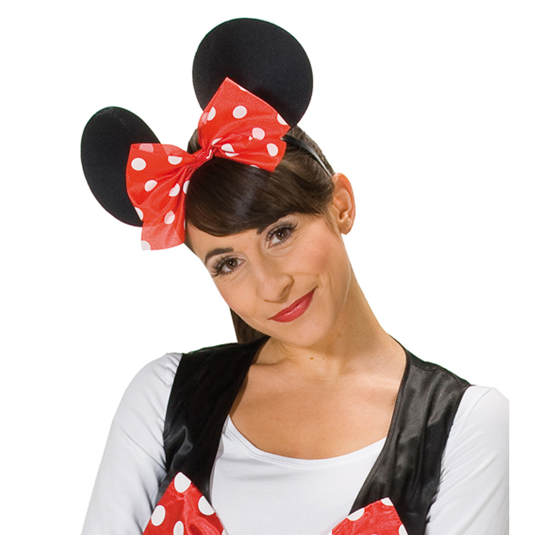 minnie mouse haarreif maus ohren haarreifen kost m zubeh r fasching karneval ebay. Black Bedroom Furniture Sets. Home Design Ideas