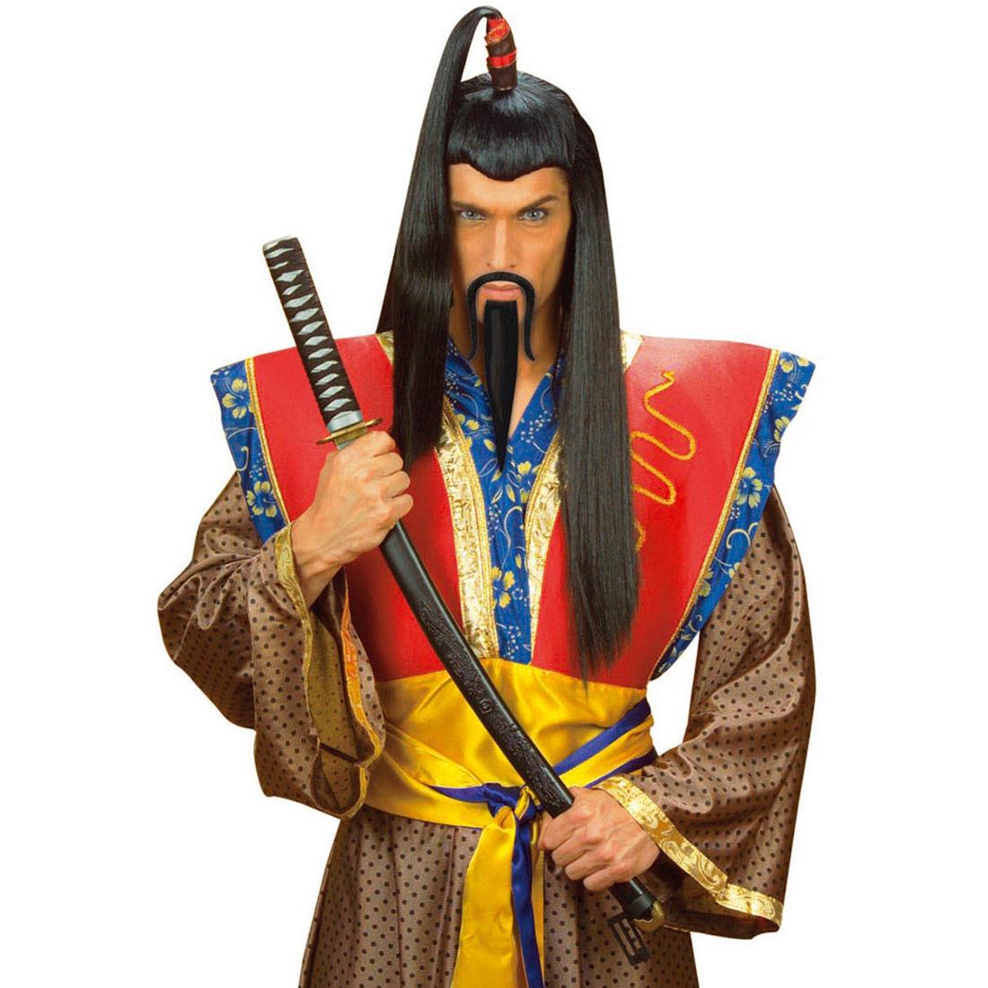 schwarzer samurai bart japaner b rte chinesen samuraibart. Black Bedroom Furniture Sets. Home Design Ideas