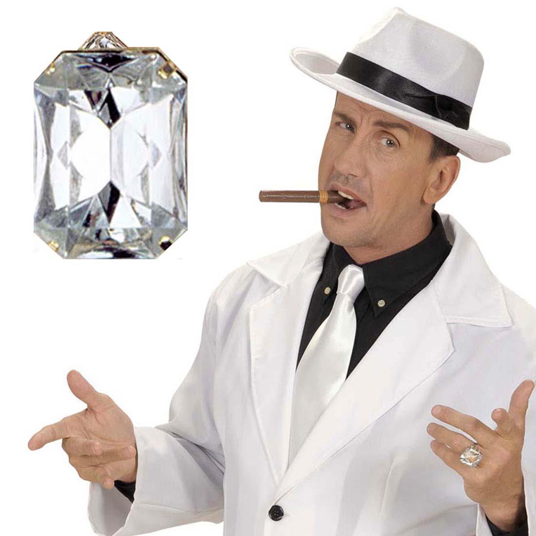 pimp ring diamant klunker strassring zuh lter schmuck diamantring accessoire ebay. Black Bedroom Furniture Sets. Home Design Ideas