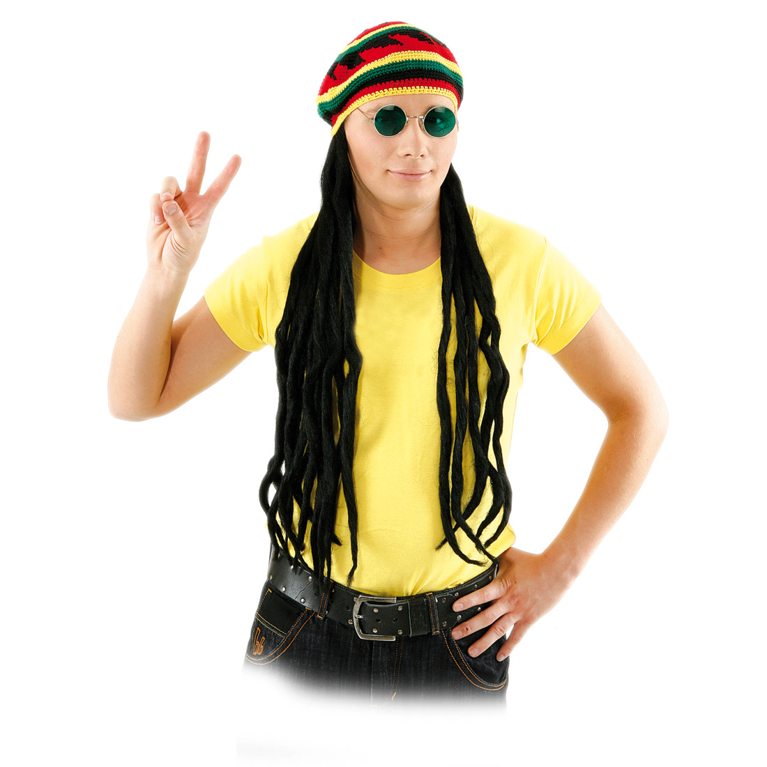 reggae m tze mit rasta z pfen faschingskost m rasta look rastam tze bob marley ebay. Black Bedroom Furniture Sets. Home Design Ideas