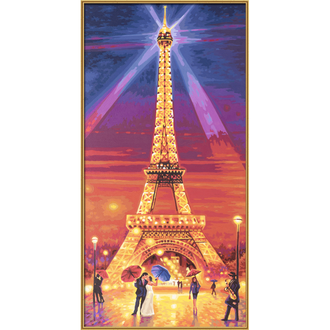 der eiffelturm bei nacht schipper malen nach zahlen